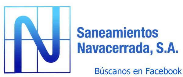 ENCUÉNTRANOS EN FACEBOOK, VISITA LA PÁGINA DE SANEAMIENTOS NAVACERRADA